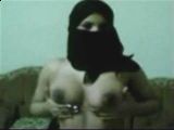 Arab Girl cant Show face but Tits ...