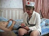 Drunk Mature Nurse Makes Sick Boy Feel Better