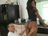 Perfect Big Ass Ebony Babe Seduces Her Young Neighbor