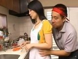 Naughty Boy Surprised Hot Maid In The Kitchen