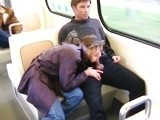Nasty Bitch Sucks Cock in Full Public Train