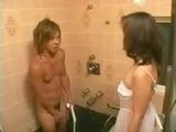 Sexy Girlfriends Mom Surprised Boy Under Shower