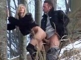 Horny Couple Fucking In The Woods