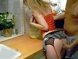 Guy Surprised His Hot Wifes Sister in The Kitchen