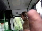 Crazy Guy Wanking His Dick at The Bus