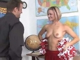 Dirty Professor Fucks Hot Young Cheerleader Girl