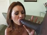 Black Mamba Stuffed Milf Mouth And Pussy