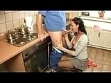 Horny Hot Housewife has sex in the Kitchen