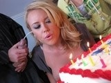 Busty Milf Gets Facial Cumshot For Her Birthday