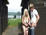 Blonde Mature Caught Young Boy Jerking On Her