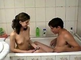 Teen Boy and His Friends Sister Bathe Together
