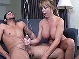 Busty Milfs Handjob Leads To Enormous Ejaculation