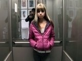 Dirty Stalker Cornered Teen Girl in Elevator
