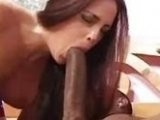 Slutty Brunette Destroyed By Long Black Dick