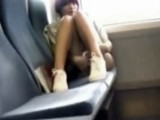 Teen Girl Caught Touching Herself on the Bus