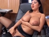 Big Boobed Latina Toying Her Juicy Pussy