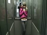 Young Teen Girl Roughly Fucked in Elevator