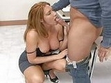 Kinky Milf Teacher Gives A Blowjob To Her Student