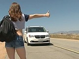 Hitchhiker Sexy Girl Fucks Stranger For A Ride Home