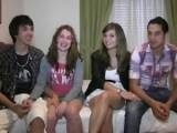 Real Hot Amateur Teens Foursome Fucking
