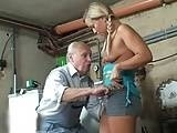 Perv Old Man Fucked Teen Neighbors Daughter in his Garage