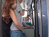 Eager Asian Girl Gives A Handjob To A Stranger In A Public Bus