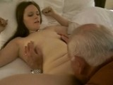 Hot Babe Gets Her Sweet Pussy Licked By Horny Old Man