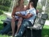 Voyeur Caught Busty Blond While Fucking In The Park