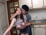 Japanese Aunt Roughly Banged In The Kitchen By Teenage Boy