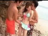 Tiny Asian Girl Fucked by Two Perv Guys