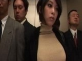 Hot Business Lady Entered Wrong Elevator