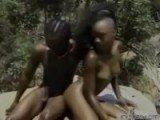 African Amateurs Having Hot Outdoor Sex