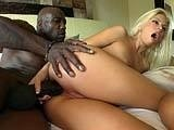 Big Black Dick rilling Tight Blonde Ass