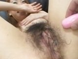 Hot and Hairy Japanese Pussy Fingered And Fucked