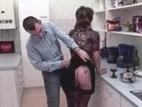 Daddy Grab Mature Maid for Ass in the Kitchen