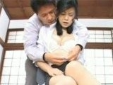 Evil Asian Man Performs Rough Masturbation On His Friends Wife