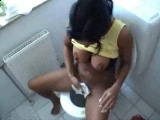 Dirty Amateur Girl Fucked Roughly in Toilet