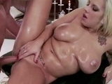 Hot Blonde Fucked Hard On Massage Table
