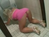 Sexy Blonde Girl Fucked By Old Man In Toilette