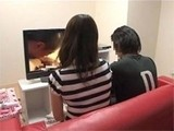 Japanese Mom and her Daughters Boyfriend Watching Porn Together