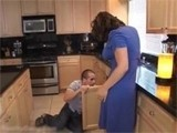 Desperate Housewife In Skirt Seduces Her Plumber