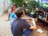 Horny Girlfriends Mom Interrupted Boy Playing Video Games