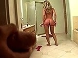 Hot Chick Caught Alone in the Bathroom