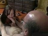 Horny Grandpa got Special Surprise by Grandsons Girlfriend