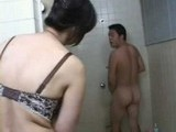 Girlfriend Stepmom Insist to Wash my Back