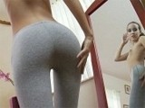 Two Assholes Saw Girl Next Door Being Dirty In Front Of Mirror