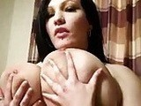 Huge Titted Brunette Teasing Big Dick