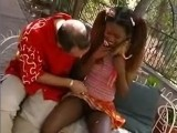 Black teen fucked in the park