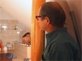 Crazy Dad Follows Daughters Friend Into Bathroom