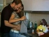 Dirty Daddy Grabbed Her Sons Fiance In The Kitchen